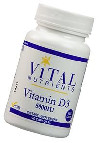 Vital Nutrients - Vitamin D3 5,000 IU - Supports Calcium