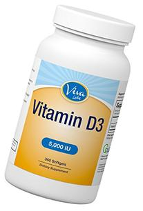 Viva Naturals High Potency Vitamin D3 5000 IU in Non-GMO