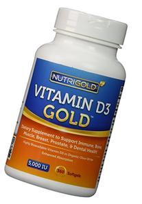 Nutrigold Vitamin D3 5000 IU, - Pack of 2