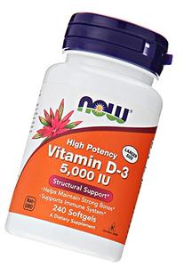 NOW Foods Vitamin D3 5000 Iu, 240 Softgels