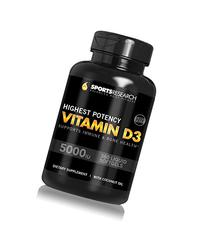 Sports Research Vitamin D3  with Coconut Oil, 360 Liquid