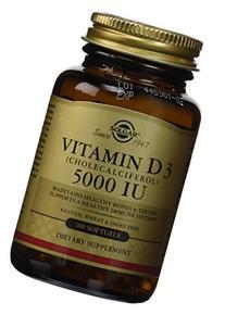 Solgar Vitamin D3 Cholecalciferol 5000 IU Softgels, 100