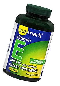 Sunmark Vitamin E, 1000 IU Softgels - 100 softgels