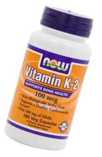 Now Foods Vitamin K-2 100 mcg - 100 Vcaps