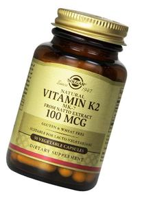 Solgar - Natural Vitamin K2  100 Mcg 50 Vc-8 Pack