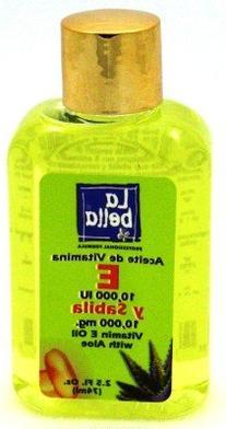 La Bella Face & Body Oil 2.5 Ounce Vitamin-E + Aloe