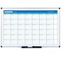 VIZ-PRO Dry Erase Board, Melamine,36 X 24 Inches, Silver