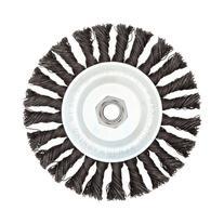Weiler Vortec Pro Wide Face Wire Wheel Brush, Threaded Hole