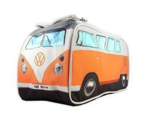 VW Volkswagen T1 Camper Van Toiletry Wash Bag - Orange -