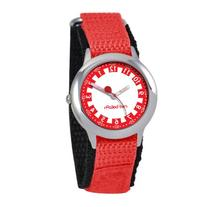 Red Balloon Kids' W000185 Red Nylon Stainless Steel Time