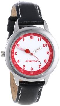Red Balloon Kids' W000197 Black Leather Strap Stainless