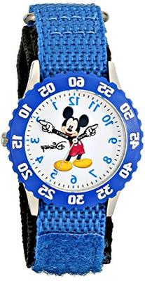 "Disney Kids' W000228 ""Mickey Mouse Time Teacher"" Stainless"
