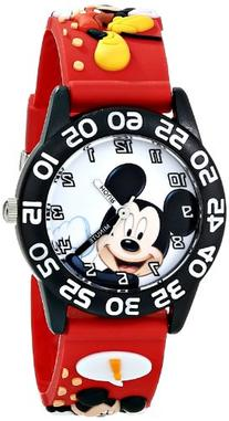 "Disney Kids' W001519 ""Time Teacher"" Mickey Mouse Watch with"