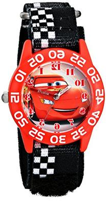Disney Kids'  W001679 Cars Plastic Watch, Black Checkered