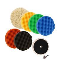 8inch  Waffle Buffing & Polishing Pad Set & Woolen Pad For