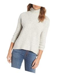 Women's Madewell Wafflestitch Turtleneck Sweater, Size Large