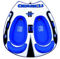 Obrien Wake Warrior 2 Inflatable Towable Tube, Blue/White,