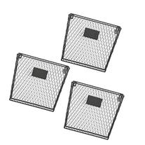 Set of 3 Wall Mounted Rustic Black Metal Wire Mail Sorter/