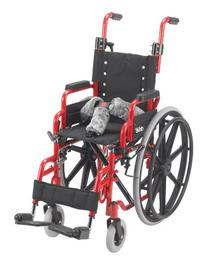 Wenzelite Wallaby Pediatric Folding Wheelchair, Red, 12 Inch
