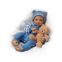 """19"""" Waltraud Hanl Weighted and Poseable Baby Boy Doll with"""