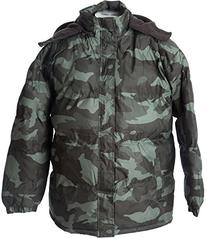 Polar Ice Mens' Warm Puffer Coat Camouflage Hooded Jacket
