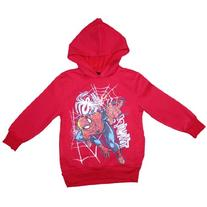 Spiderman Boys Warm Pullover Hoodie Sweatshirt X-Small Red