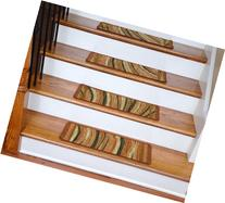 Washable Non-Skid Carpet Stair Treads - Jazzy Terra Cotta