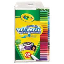 Washable Super Tips Markers with Silly Scents, Assorted, 50/