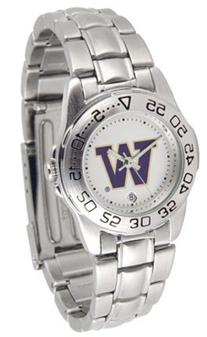 Washington Huskies Gameday Sport Ladies' Watch with a Metal