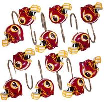 Washington Redskins Set 12 Bathroom Shower Curtain Hooks