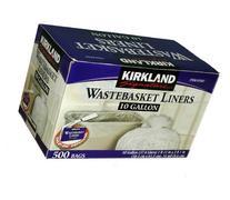 Kirkland Signature 10 Gallon Clear Wastebasket Liner 500