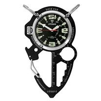 Dakota Watch Company Multi-Tool Clip Watch, Black