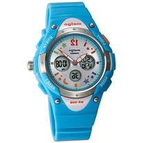 PASNEW High Quality Water-proof 100m Dual Time Unisex Child