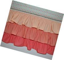Waterfall Crib Skirt - Ruffled Crib Skirt Coral - Custom
