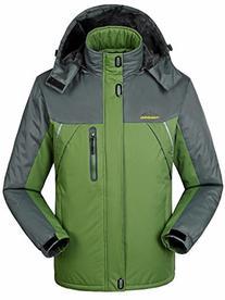 Men's Waterproof Outdoor Coat Fleece Windproof Ski Jacket