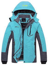 Wantdo Women's Waterproof Mountain Jacket Fleece Outdoor