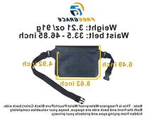 Waterproof Waist Pouch Set with Phone Case - Pure Black -