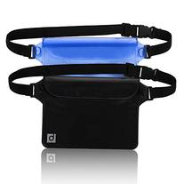 blue sky BASICS Waterproof Pouch with Waist Strap  | Best Way to Keep Your Phone and Valuables Safe and Dry | Perfect for Boating Swimming Snorkeling