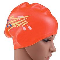 Eforstore 1pcs Waterproof Silicone Swimming Cap For Long