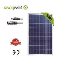Newpowa 100W Watt 12V Solar Panel High Efficiency Poly