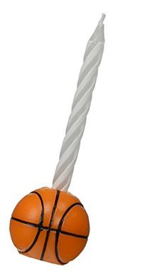 Oasis Supply Wax Basketball Holder with Birthday Candles