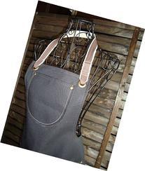 Waterproof black Canvas apron, Shop Apron, artist's apron,