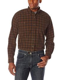 Pendleton Men's Wayne Shirt, Brown/Red Windowpane, Large