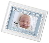 We Love You Wood Picture Frame, 4x6, White
