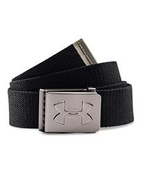 Under Armour Boys' Webbed Belt, Black/Graphite, One Size