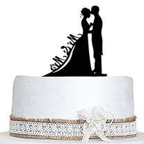 SveBake Wedding Cake Topper Acrylic Bride and Groom--Love