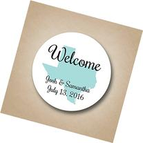 Wedding Welcome Bag Stickers State Design