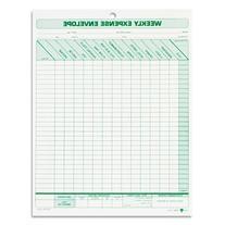 TOPS Weekly Expense Envelope, 8-1/2 X 11, 20 Envelopes Per