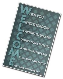 Welcome - New Classroom Motivational Poster