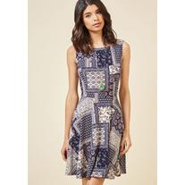 Welcome With Open Charms A-Line Dress